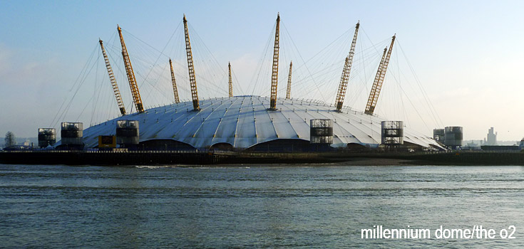 Millennium Dome and o2 centre photos, street scenes, skylines, the rotunda and more