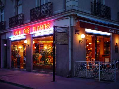 cafe at night nantes france. Black Bedroom Furniture Sets. Home Design Ideas